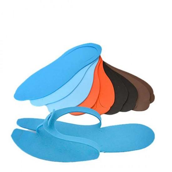Еднократни чехли за педикюр, цветни - 12 чифта