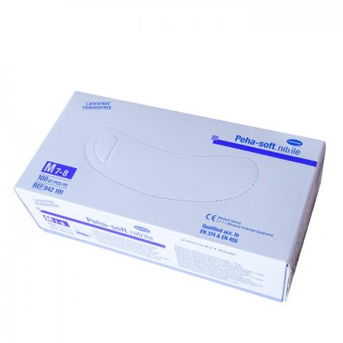 Защитни ръкавици за еднократна употреба от нитрилен каучук, без талк, 100бр