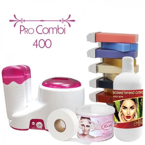 Комплект за епилация с кола маска с нагревател Pro Combi 400