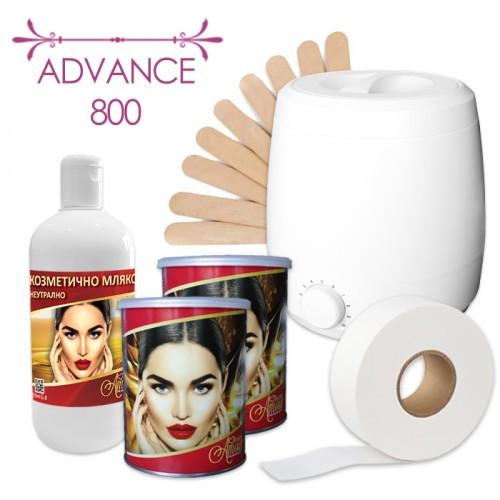 Комплект за епилация с топла кола маска – Advance 800